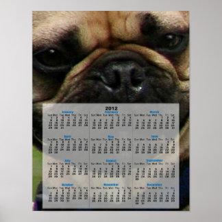 French Bulldog 2012 Calendar Poster