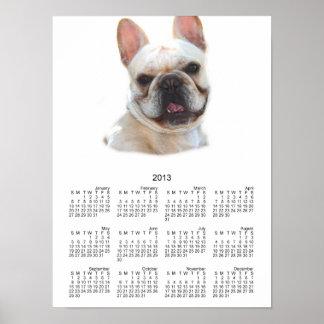 French bulldog 2013 calendar poster