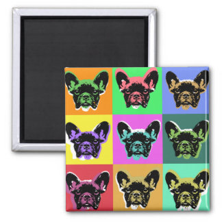 French bulldog 2 inch square magnet