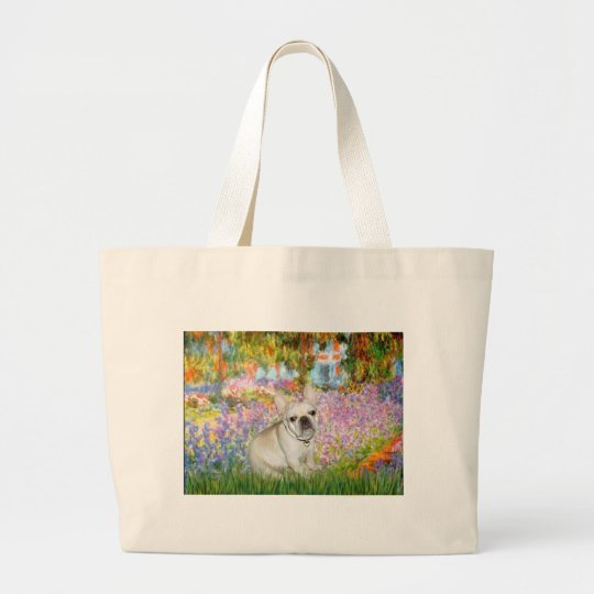 French Bulldog 3 - Garden Large Tote Bag
