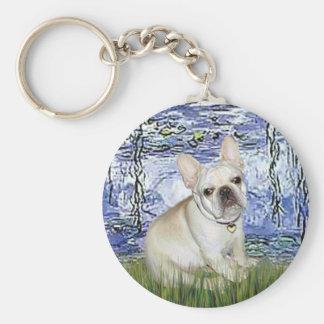 French Bulldog 3 - Lilies 6 Keychains