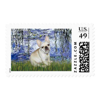 French Bulldog 3 - Lilies 6 Stamps