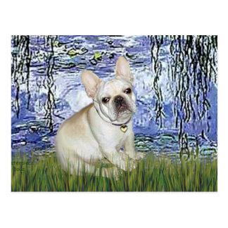 French Bulldog 3 - Lilies 6 Postcard
