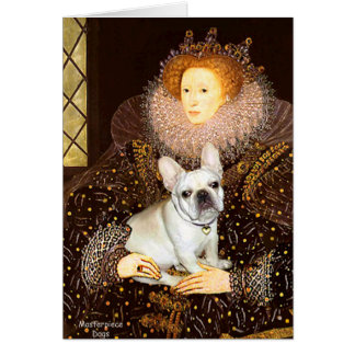 French Bulldog 3 - Queen Greeting Card