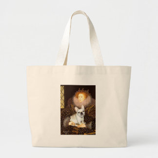 French Bulldog 3 - Queen Large Tote Bag