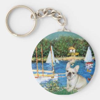 French Bulldog 3 - Sailboats Key Chain