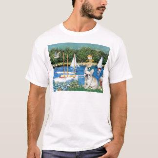 French Bulldog 3 - Sailboats T-Shirt