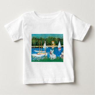 French Bulldog 4 - Sallboats Baby T-Shirt