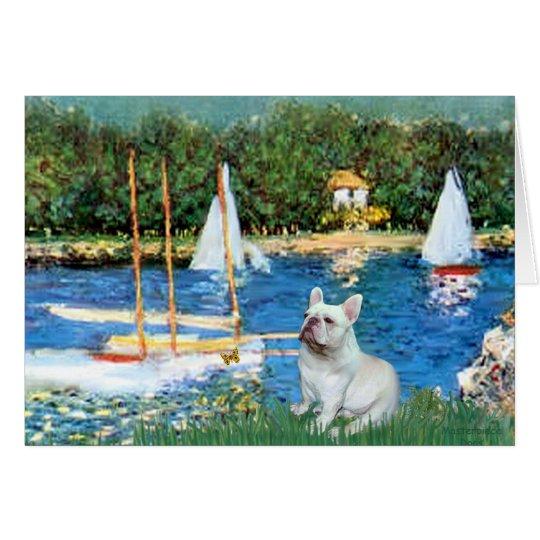 French Bulldog 4 - Sallboats Card