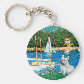 French Bulldog 4 - Sallboats Key Chains