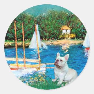 French Bulldog 4 - Sallboats Sticker