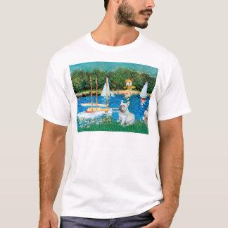 French Bulldog 4 - Sallboats T-Shirt