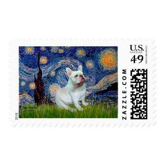French Bulldog (4W) - Starry Night Postage Stamps