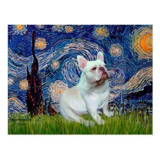French Bulldog (4W) - Starry Night Postcard