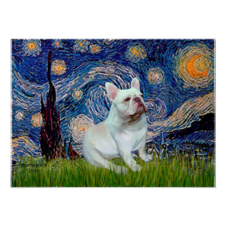 French Bulldog (4W) - Starry Night Print