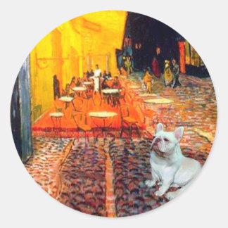 French Bulldog 4W - Terrace Cafe Classic Round Sticker