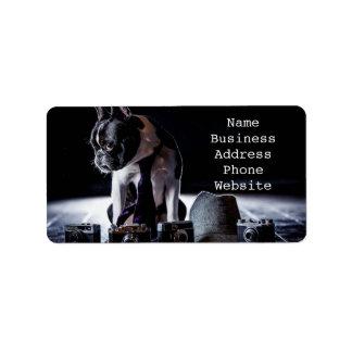 French Bulldog Amateur Photographer Dog Address Label