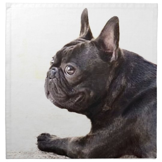 French bulldog American Mojo Cloth Napkin