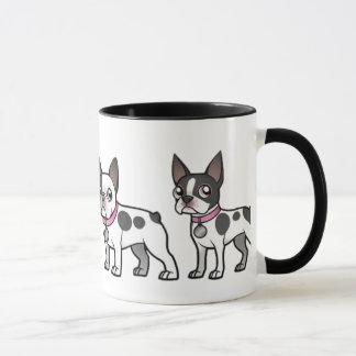 French Bulldog and Boston Terrier Coffee Mug