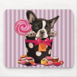 French bulldog and Candy Mouse Pad