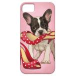 French bulldog and polka dot shoe iPhone 5 covers