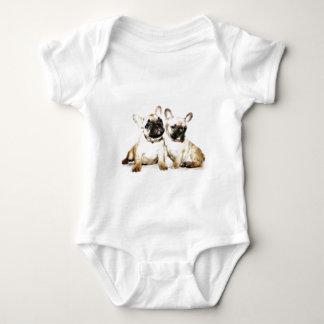 French Bulldog art Baby Bodysuit