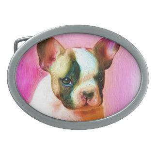 French Bulldog Art Belt Buckle