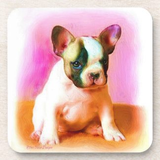 French Bulldog Art Beverage Coaster