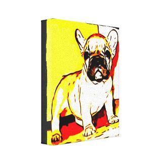French Bulldog Art Canvas Print