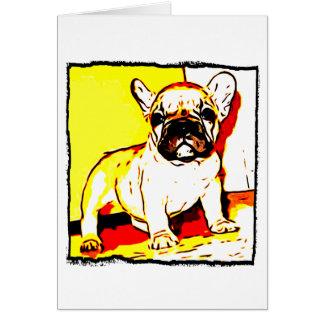 French Bulldog Art Card