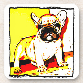 French Bulldog art Drink Coaster