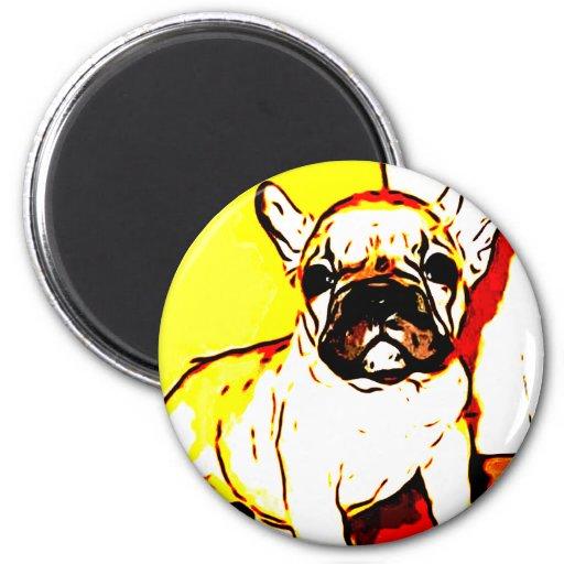 French Bulldog Art Fridge Magnets