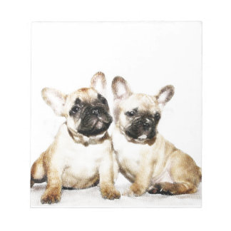 French Bulldog art Notepad