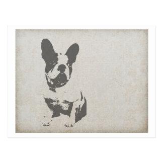 french bulldog art.png postcard