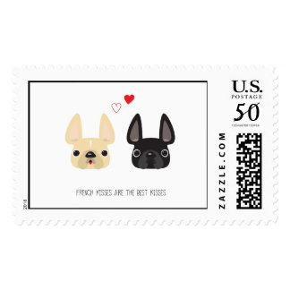 French Bulldog Art Postage Stamps