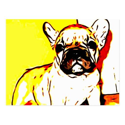 French Bulldog Art Postcard