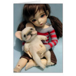 French Bulldog Baby Doll Sculpture 2 Greeting Card