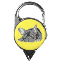 French Bulldog badge Badge Holder