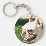 French Bulldog Basic Round Button Keychain