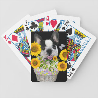 French Bulldog Basket Of Daisies Gifts Bicycle Playing Cards