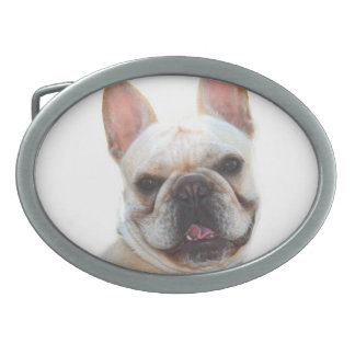 French Bulldog Oval Belt Buckles