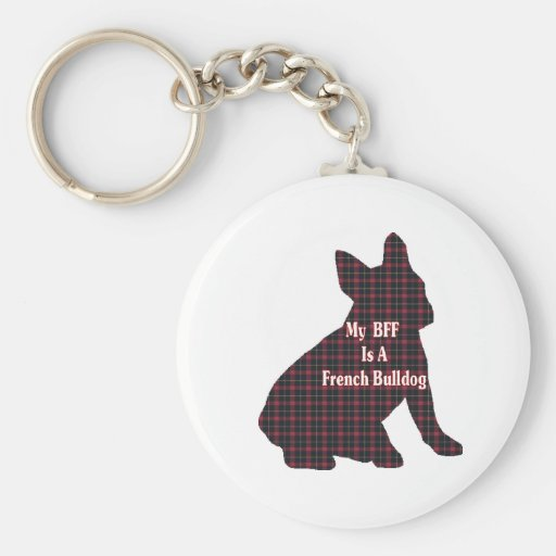 French Bulldog BFF Gifts Basic Round Button Keychain