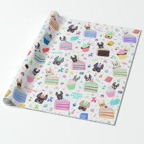 French Bulldog Birthday Gift Wrap