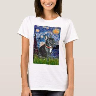 French Bulldog (black 11) - Starry Night (vert) T-Shirt