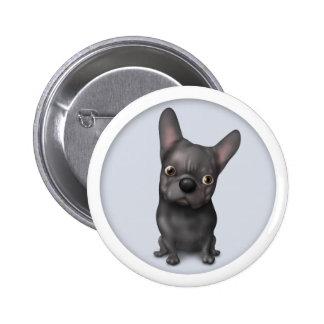 French Bulldog (Black) Button