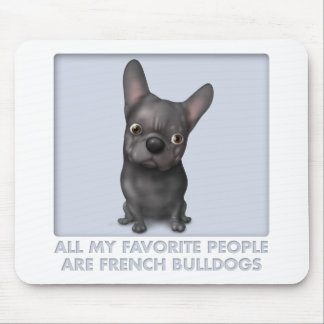 French Bulldog (Black) Favorite Mouse Pad