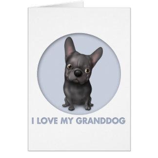 French Bulldog (Black) Granddog Card