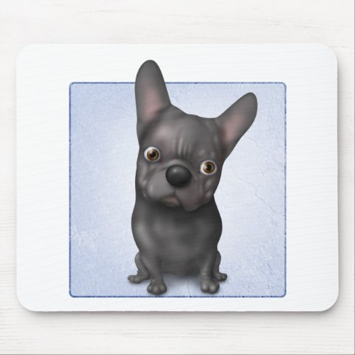 French Bulldog (Black) Mouse Pad