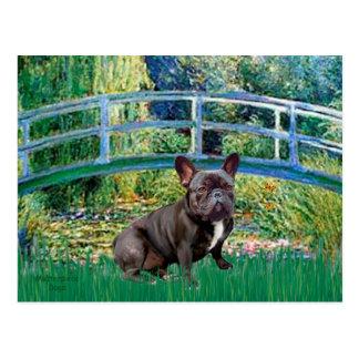 French Bulldog (blk-10) - Bridge Postcard