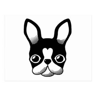 French Bulldog/Boston Terrier Postcard